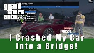 GTA 5 I Crashed My Car into a Bridge, I Don't Care! , I LOVE IT! - Online Race Adder