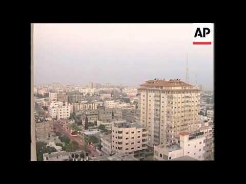 Daylight over Gaza City skyline