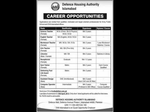 Science Teacher Job, Defence Housing Authority Islamabad Job, Montessori Teacher 7 April