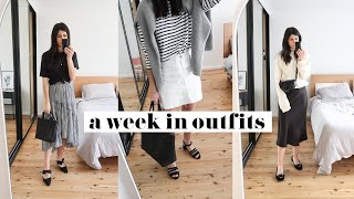 WHAT I WEAR IN A WEEK - Minimal Spring Style Outfit Ideas | Mademoiselle