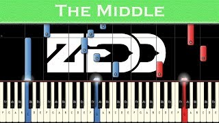 Download Lagu Zedd, Maren Morris, Grey - The Middle | Piano tutorial + MIDI Gratis STAFABAND