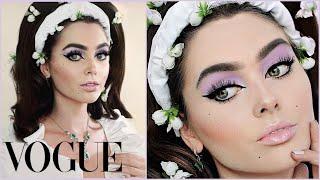 lily collins met gala 2019 makeup & hair tutorial   jackie wyers
