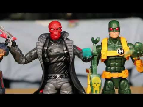 Captain America The Winter Soldier Marvel Legends Red Skull & Hydra Soldier Quickie Review