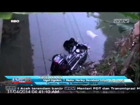 [ANTV] TOPIK Ugal-Ugalan, 1 Motor Harley Davidson Terjun ke Sungai