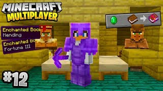 LUCKIEST VILLAGERS EVER in Minecraft Multiplayer Survival! (Episode 12)