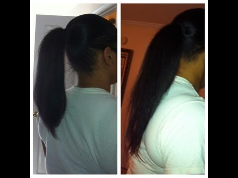 relaxed hair care regimen to healthy long hair very long