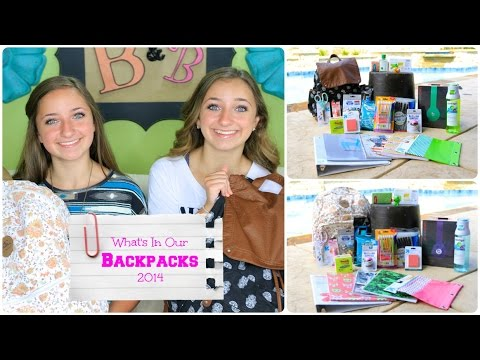 What's in Our Backpacks 2014   Back-to-School Supplies