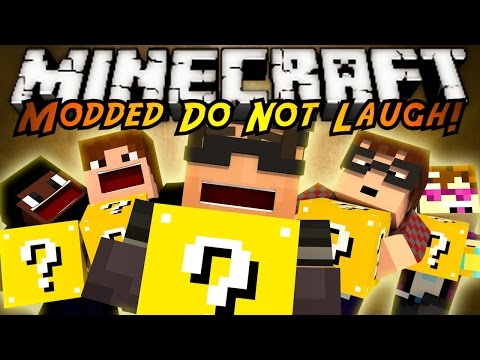 Minecraft MODDED Mini-Game : DO NOT LAUGH 25! (Lucky Blocks!)