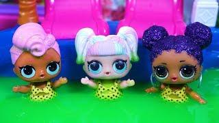 Lol Surprise Dolls Swim In Pool Of Slime