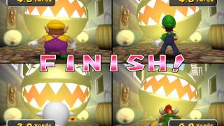 Mario Party 5 minigame: Night Light Fright 60fps