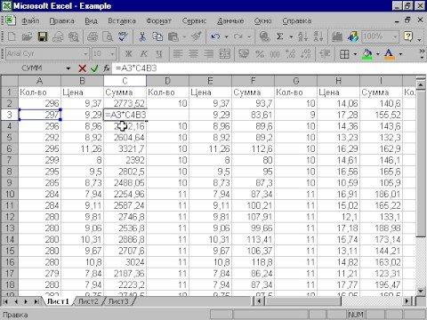 Как сделать таблицу эксель с формулами
