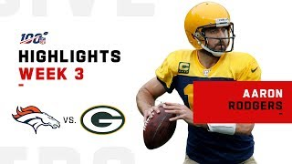 Aaron Rodgers Highlights vs. Broncos | NFL 2019