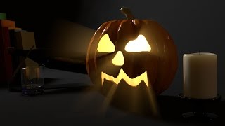 Modo 10.2 - Stencil effect and displacement freeze pumpkin model.