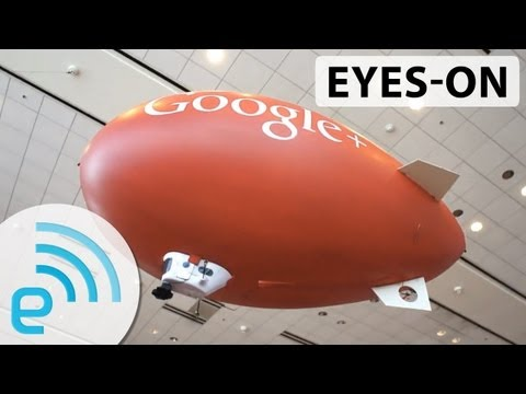 Google AirShow streams I/O live from several RC blimps | Engadget at Google I/O 2013