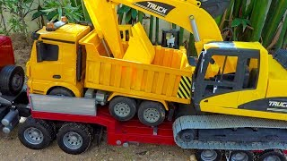 Car Toy for Kids | Road Roller Truck, Excavator Construction Vehicles
