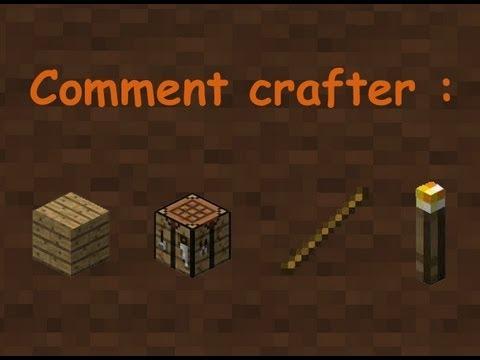 Comment faire une table de craft un baton une torche tutoriel minecraft f - Comment faire la table ...