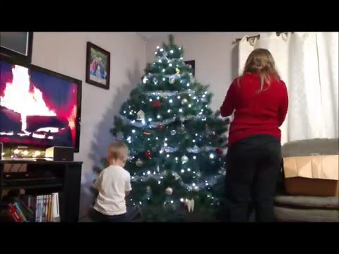 Decorating our Christmas Tree 2015  (time lapse)