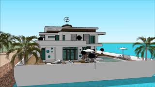 Floating house anime collection in Cambodia Key west modern Floating house anime collectioning resid