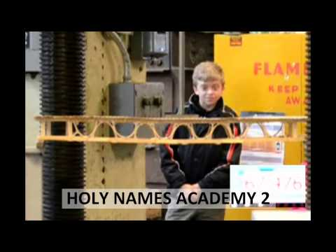 2013 Popsicle Stick Bridge Competition - Breaking the Bridges: Holy Names Academy 2