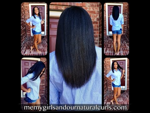 The Best Way to Straighten Natural Hair!