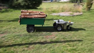 Innok Robotics Heros pulls trailer with firewood