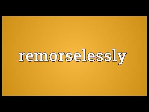Header of remorselessly