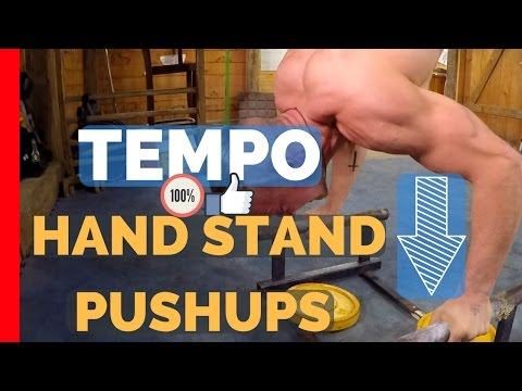 Strength Training [Hand Stand Push Ups]