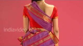 Wearing Chettinad Saree In Tamil Pinkosu Style - Tutorial