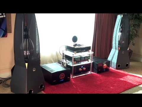 AudiogoN @ CES 2009: MBL high-end audio from Germany w/ omni-directional ribbon speakers + BIG amps