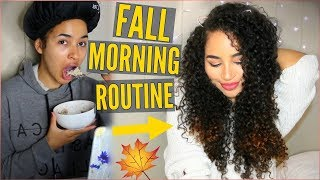 FALL MORNING ROUTINE! How to refresh Curly Hair! 2017