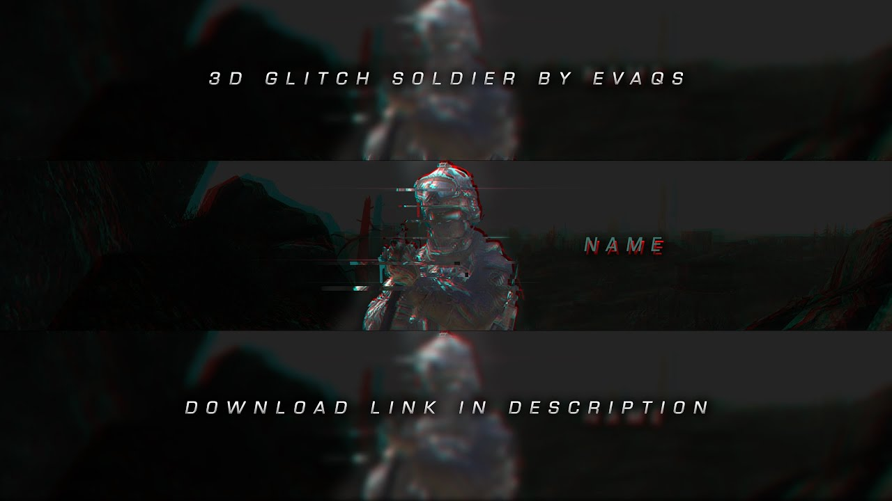 3d glitch soldier banner template evaqs youtube. Black Bedroom Furniture Sets. Home Design Ideas
