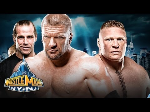 WWE Wrestlemania 29 - Triple H  vs. Brock Lesnar No Hold's Barred Full Match Prediction