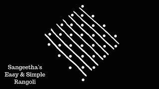 Easy Kolam Designs with 8X2 Dots | Kolam Designs | Kambi\Chikku Designs | Rangoli Designs | Kolam