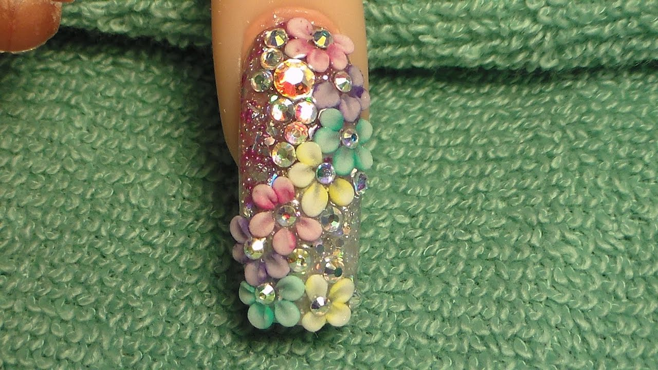 ... PRIMAVERAL ESTILO SINALOA - UÑAS ACRILICAS - Natos Nails - YouTube