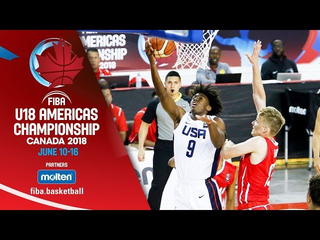USA v Panama - Group Phase - Re-Live ENG - FIBA U18 Americas Championship 2018