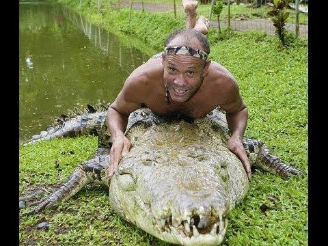 Дружба человека с крокодилом  HD