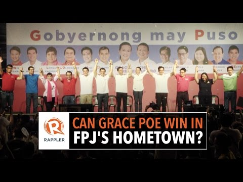 Can Grace Poe win in FPJ's hometown?