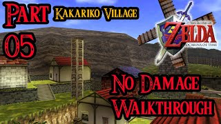 Zelda Ocarina of Time 100% Walkthrough Widescreen HD Part 5 - Kakariko Village