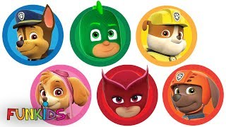 PJ Masks & Paw Patrol Play Doh Can Heads & Play Doh Molds
