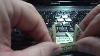 How To Fold A $1 Bill Into An Arrow