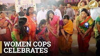Hyderabad Women police celebrate Bathukamma