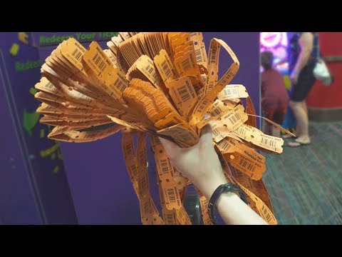 LETS WIN ALL THE ARCADE TICKETS! | Arcade
