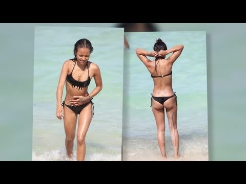 Chris Brown's Rumored Love Karrueche Tran Shows Off Her Toned Bikini Body - Splash News video
