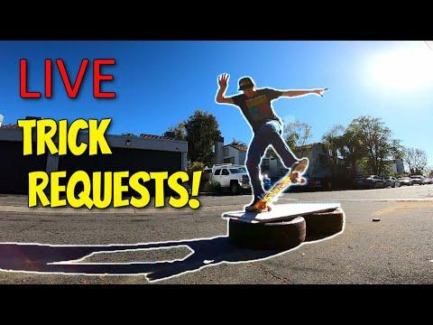 Skating A DIY Ledge. Trick Request?!?! (Edited Livestream)