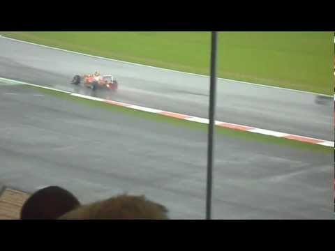 Felipe Massa and Sergio Perez making their way through the chicane 2012 British Grand Prix