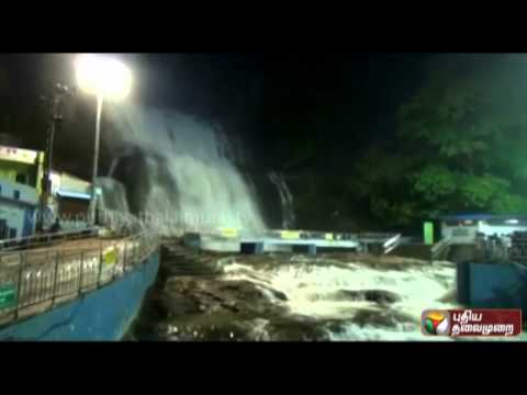 Tourists barred from bathing in Courtallam falls