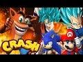 Crash Bandicoot vs Mario Sonic Goku | Crash Meets DBZ | DBZ Tenkaichi 3 (MOD)