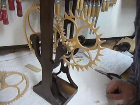 Making the #6 part 4. A wooden gear clock Video