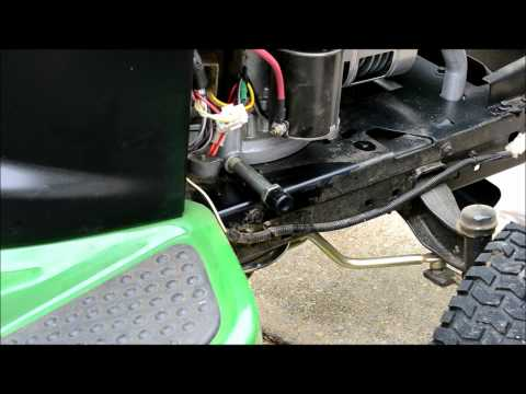 John Deere Lawn Tractor Tune Up, Step 1 of 5: The Oil Change