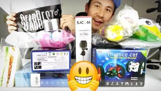 HUGE FREE BOX of DRONES, SQUISHES, ACTION CAMERA, RC CAR, MAGNETS + 4 Giveaways!!!